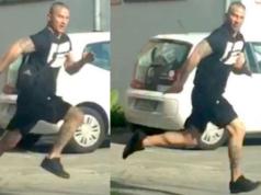 Der abgebildete Mann soll in Reinickendorf auf ein am Boden liegendes Opfer eingetreten haben. (Foto: Polizei Berlin)