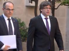 Kataloniens Präsident Carles Puigdemont ist vor Spaniens Justiz ins belgische Exil geflohen. (Screenshot: YouTube)