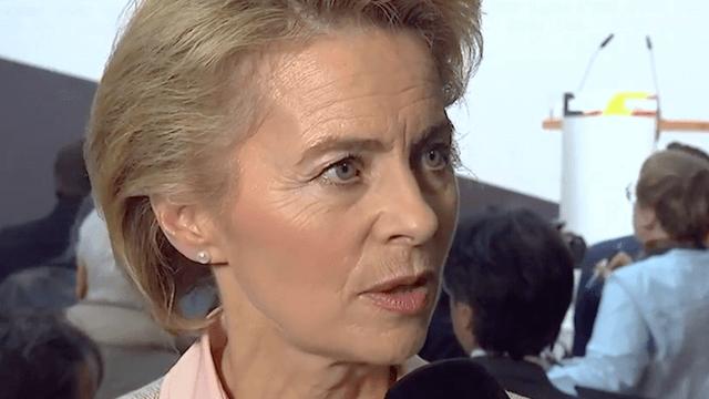 Ursula von der Leyen warnt vor einem Rechtsruck und findet ein Vorbild in der SPD. (Screenshot: YouTube)
