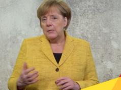 Schlechte Nachrichten für Bundeskanzlerin Angela Merkel: CDU/CSU fallen in Wahlumfragen auf 30 Prozent. (Screenshot: YouTube)