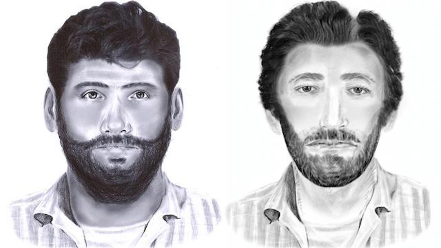 Zwei Bärtige Männer haben in Berlin-Neukölln einen christlichen Flüchtling angegriffen. (Phantombilder: Polizei Berlin)