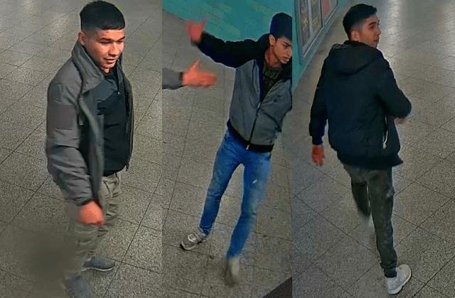 Weitere Bilder von drei der fünf Tatverdächtigen vom U-Bahnhof Alexanderplatz (Fotos: Polizei Berlin)