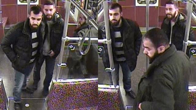 Weitere Überwachungsbilder der drei Tatverdächtigen, die Fahrgäste angegriffen haben sollen (Fotos: Polizei Berlin)